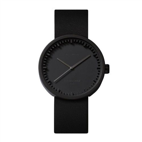 Tube Watch Black D38 Leather Strap
